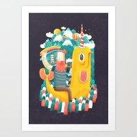 unicorn Art Prints featuring Unicorn by Seaside Spirit