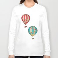 hot air balloon Long Sleeve T-shirts featuring Hot Air Balloon by Zen and Chic