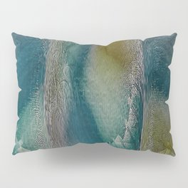Industrial Wings in Teal Pillow Sham