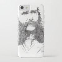 moustache iPhone & iPod Cases featuring Moustache by Paul Nelson-Esch Art