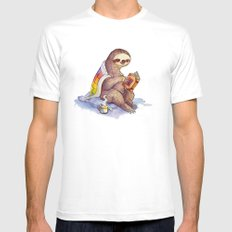 Sloth White Mens Fitted Tee X-LARGE