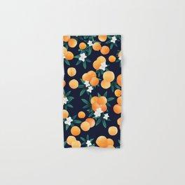 Orange Twist Flower Night Vibes #3 #tropical #fruit #decor #art #society6 Hand & Bath Towel