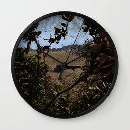 Landslide views Wall Clock