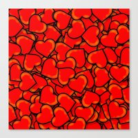 hearts Canvas Prints featuring Heart by 10813 Apparel