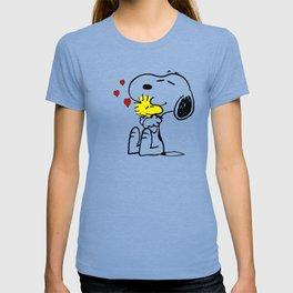 snoopy love woodstock T-shirt