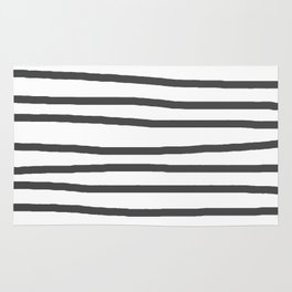 Simply Drawn Stripes in Simply Gray Rug