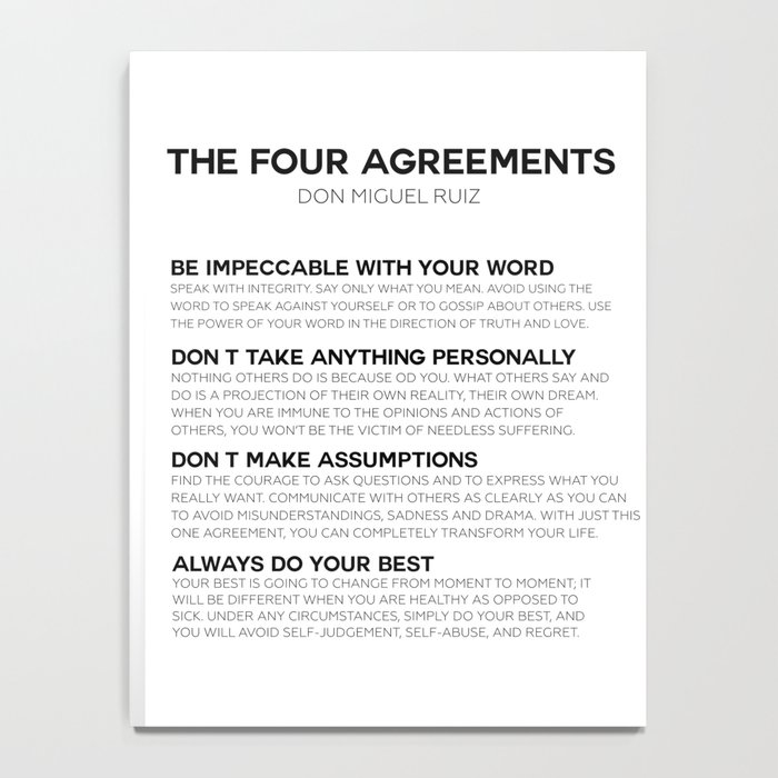 the four agreements Notebook