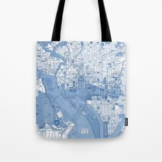 Washington DC Map Tote Bag