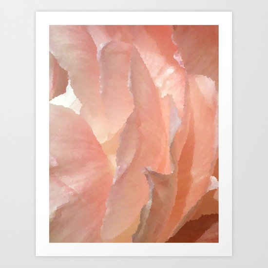 Inner Pink Light - Peonies Art Print