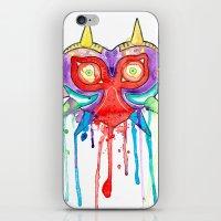 majoras mask iPhone & iPod Skins featuring Majoras Mask Splatter by ysocrazeh