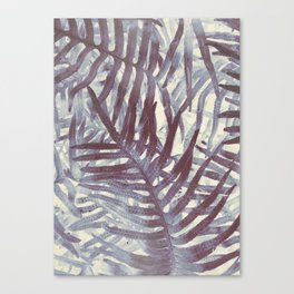 Scanned Ferns Canvas Print