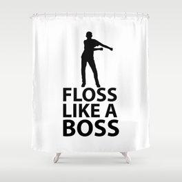 Floss Black Dancing Shower Curtain