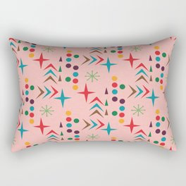 Atomic pattern mid century modern #homedecor Rectangular Pillow
