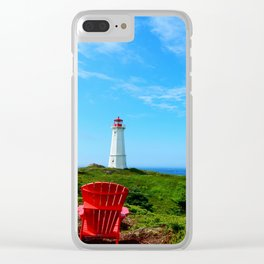 Louisbourg Lighthouse Clear iPhone Case