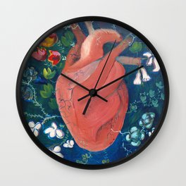 Frida´s Heart Wall Clock