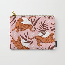 Vibrant Wilderness / Tigers on Pink Carry-All Pouch