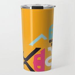 Orange Arabic Travel Mug