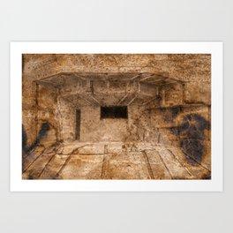 Ravaged War Bunker Art Print