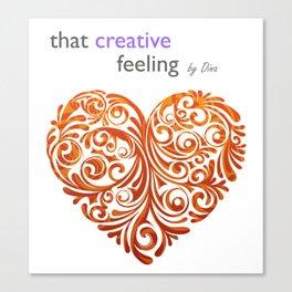 That Creative Feeling logo Canvas Print