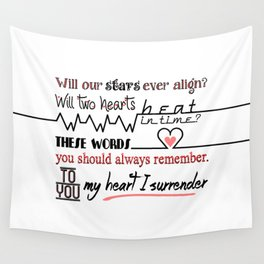 My Heart I Surrender - I Prevail Wall Tapestry