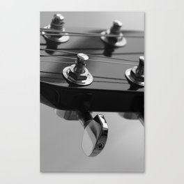 Guitar Head Canvas Print