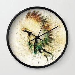 Native American Boho Headdress Sideview Wall Clock