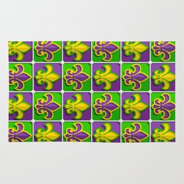 Mardi Gras  pattern Rug