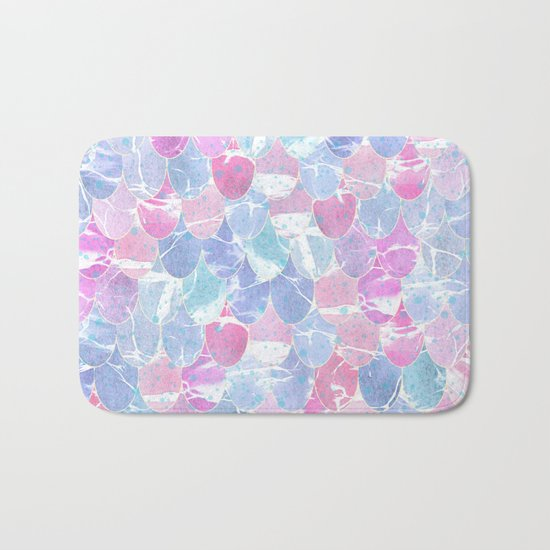 Abstract Mermaid Scales Pattern Bath Mat