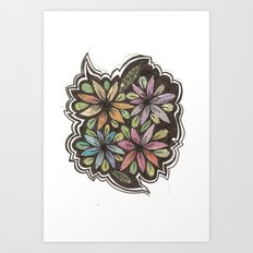 Floral Collage Art Print