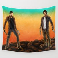 supernatural Wall Tapestries featuring Supernatural Hunters by MellodyDoll