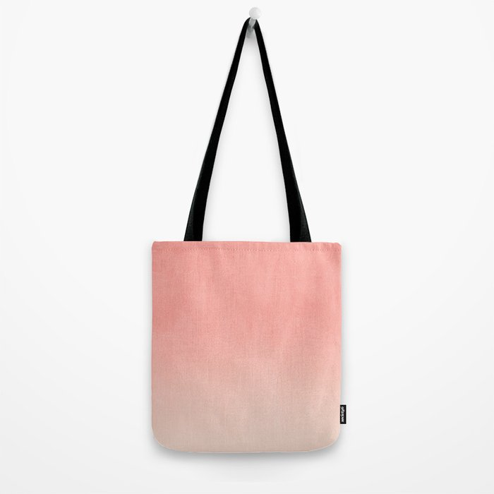 Coral ombre trendy girly trend college life dorm decor office minimalism Tote Bag