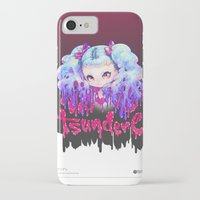 barachan iPhone & iPod Cases featuring tsundere by barachan