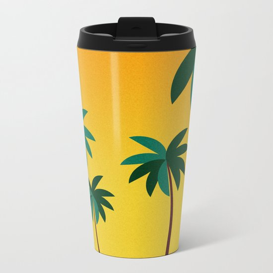 Palm Trees Metal Travel Mug