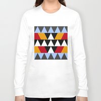 aztec Long Sleeve T-shirts featuring Aztec by Chris Lang