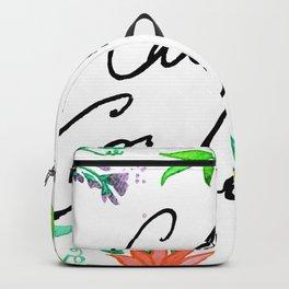 Call Me Cordelia- Red Flowers Backpack