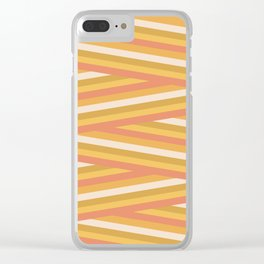 stripey sunny square Clear iPhone Case