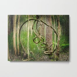 Squiggly Metal Print