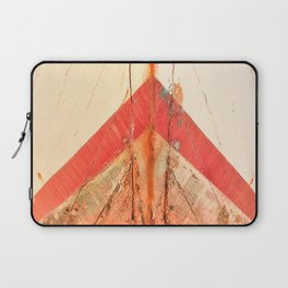 Orange Boat Hull Wooden Boats Fishing Fisherman Seafood Painted Wood Vintage Weathered Nautical Beac Laptop Sleeve