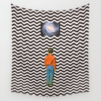 sleep Wall Tapestries featuring Illusion sleep   by Mariano Peccinetti
