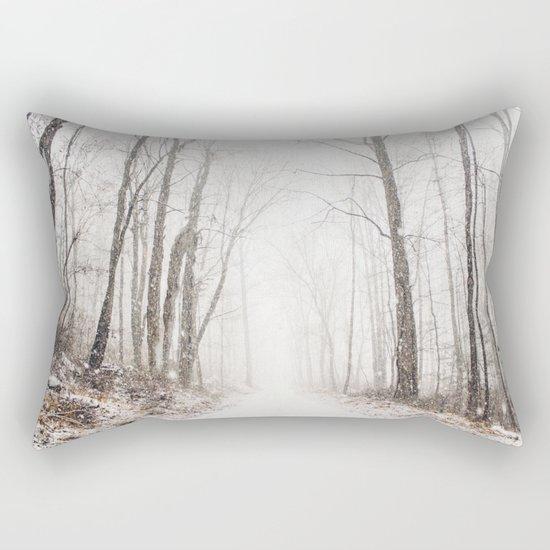 Winter path #photography #society6 Rectangular Pillow