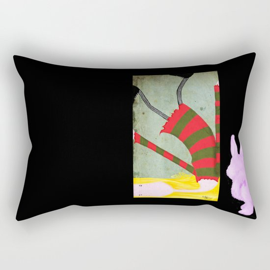 Unadjusted Again and Again and Again Rectangular Pillow
