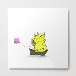 Hubert Monster Beastie Metal Print