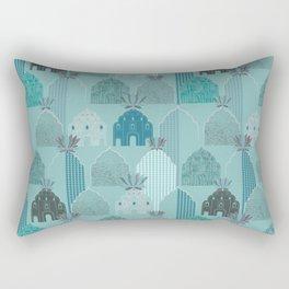 Art Deco in blue Rectangular Pillow