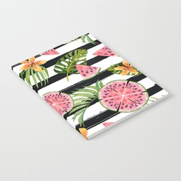 Watermelon black stripes Notebook