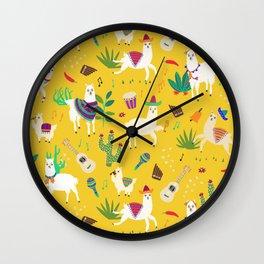 Alpacas & Maracas  Wall Clock