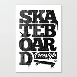 Skateboard Canvas Print