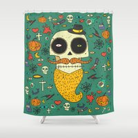 halloween Shower Curtains featuring Halloween by ari-s