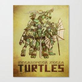 Steampunk Ninja Turtles Canvas Print