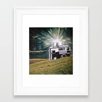 the flash Framed Art Prints featuring Flash by Holden Mesk