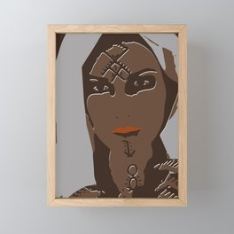 berber tattoed women Framed Mini Art Print